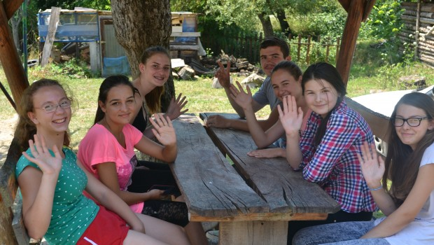 Youth at a 4D-sponsored camp in Moldova.